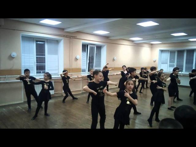 Ансамбль грузинского танца Сихарули (Санкт-Петербург) репетиция младшей группы