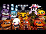 Five Nights at Freddys 4 Teaser * Animatronics Reaction to Fredbear | FNAF SFM