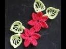Цветок с разновысокими столбиками Flower with different heights columns Crochet