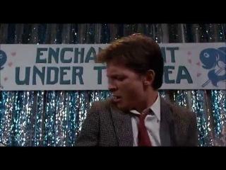 Эпизод из фильма Назад в будущее 1985 Michael J. Fox -Johnny be good