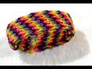 Плетение красивого широкого браслета в 5 рядов из резинок на станке – смотреть видео