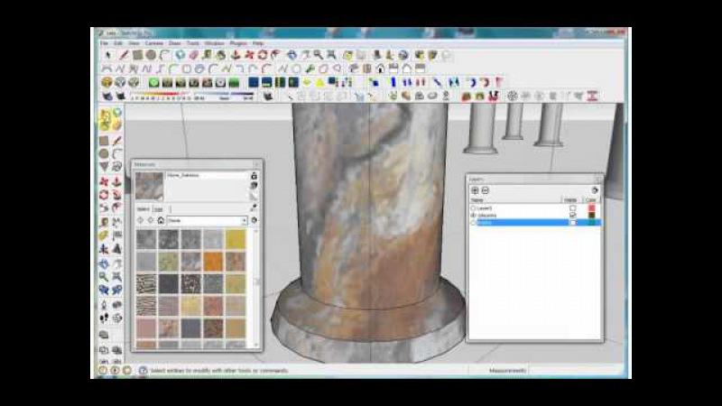 Прием текстурирования в SketchUp