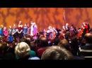 Alle Arcato ensembles samen spelen het zuid afrikaans volkslied ivm de begrafenis van Nelson Mandela