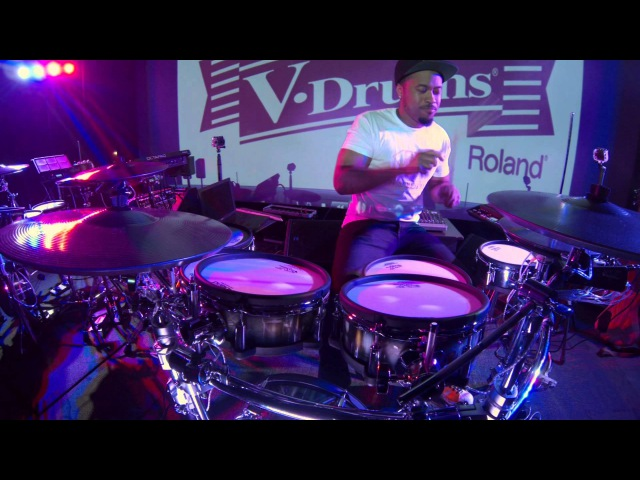 Tony Royster Jr. crazy metronome practice with the TD-30.