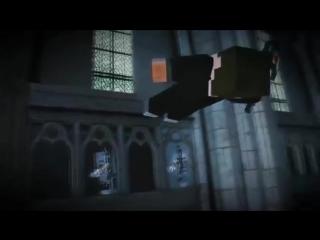 Битва в замке херобрин против зомби майнкрафт - minecraft