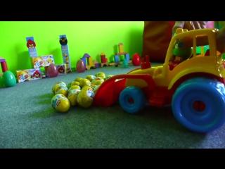 Surprise Eggs: мультик про машинку, angry birds и яйца