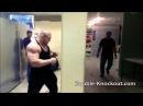 Russian strongman broke a concrete wall bare fist.