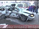 смертельное ДТП В Алматы!!! столкнулись 2 автобуса и Toyota: погибли 4 человека