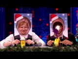 Lewis Hamilton and Ed Sheeran get Pie Faced on Jonathan Ross Chat Show Christmas Special 2014