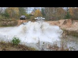 Toyota Land Cruiser 95 Extreme Jump in Deep Quarry