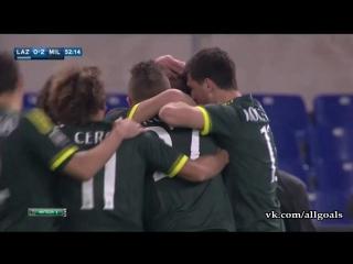 Лацио 1-3 Милан / Обзор / Голы / 02.11.2015 [HD 720p]