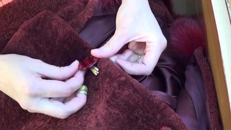 Как пришить пуговицу на пальто, шубу, дубленку.