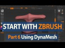 How to Start with ZBrush Character Sculpting Continued with DynaMesh Part 6