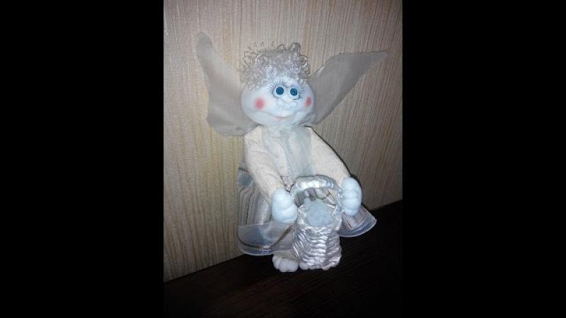 Ангел из капрона на Новый Год. Angel