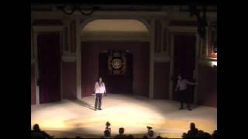 ESGRIMA ESCÉNICA. Maestro JESÚS ESPERANZA. Actor: XOEL YÁÑEZ. Actriz: SABELA ARÁN _ 2012