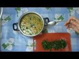 Диетический суп с брокколи на тыквенной основе.