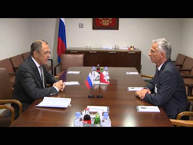 Sergey Lavrov and Didier Burkhalter   С.В.Лавров и Д.Буркхальтер