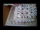 Piastrella con fiori tutorial 1° Parte - telaio di Maria Gio