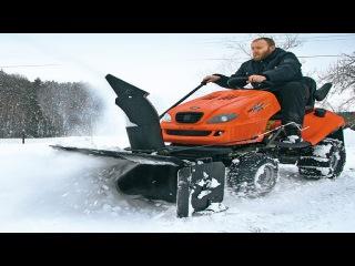 Уборка снега | работа снегоуборочной техники | Видео обзор