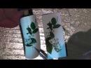 Рисуем ветку белой черёмухи на ногтях/Цветы/Дизайн ногтей/Роспись ногтей/Nail art painting