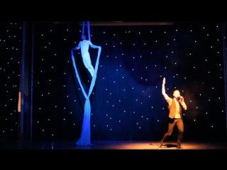 Дуэт воздушная гимнастика на полотнах Евгений Лепустин и вокал Александр Проказов