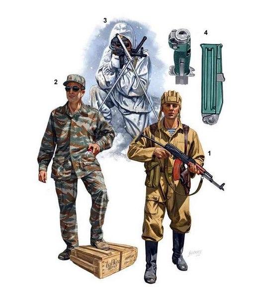 «Спецназ: Российские силы специального назначения» иллюстрации издательства Osprey