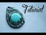 Silver &amp Turquoise Polymer Clay Feather Pendant Tutorial  DIY Jewellery  Fantasy  Velvetorium