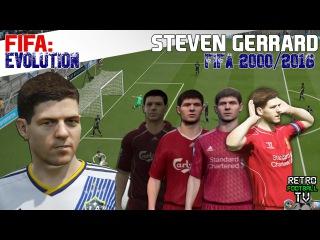 The Evolution of Stevie Gerrard through the FIFA Series! (Feat. Retro Football TV)