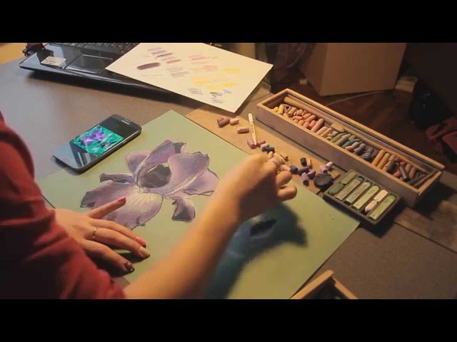 Мастер-класс от REPINSCHOOL Ирис в технике сухой пастели