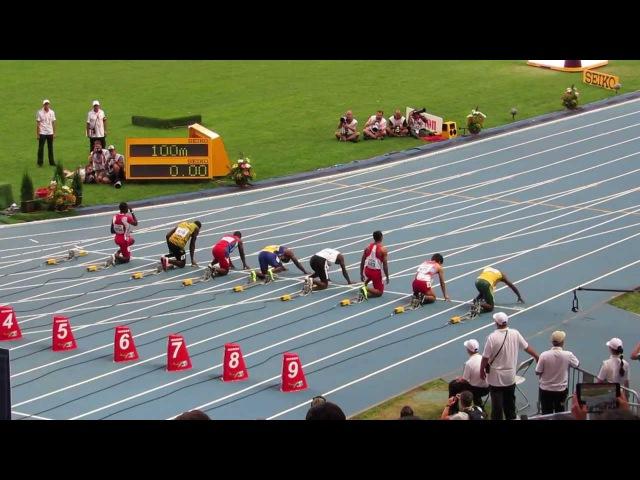 Забег на 100 метров Усейн Болт Usain Bolt Чемпионат мира по легкой атлетике в Москве 2013