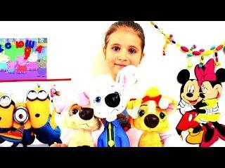 Белка, Бублик и Дина игрушки из Мультфильма Белка и Стрелка