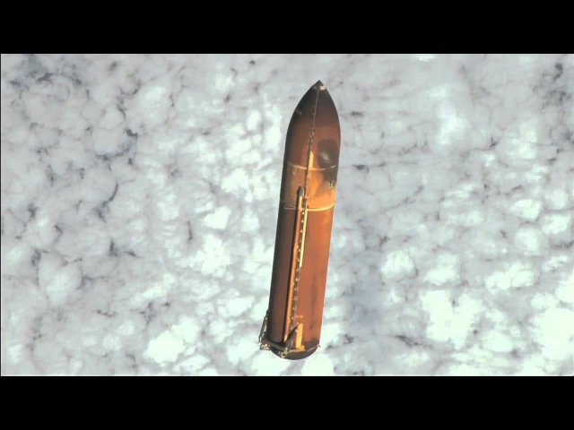Endeavour's External Tank Falls Away