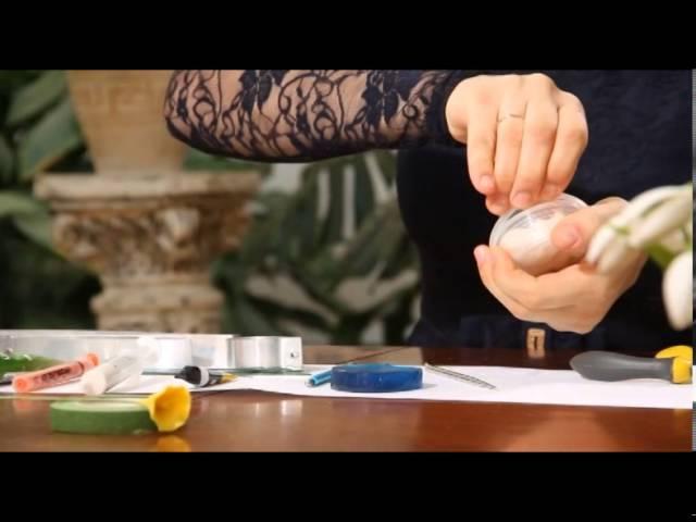 «Ручная работа» цветок из полимерной глины (22.01.2014)