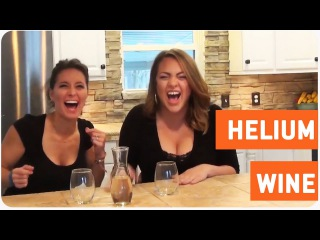 Two Women Drink Helium Infused Wine