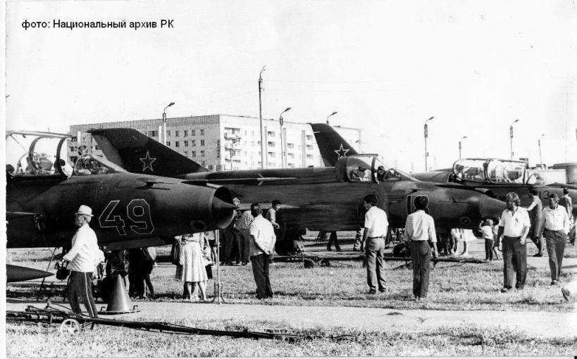Аэровыставка в 1 микрорайоне. 23 августа 1988 года