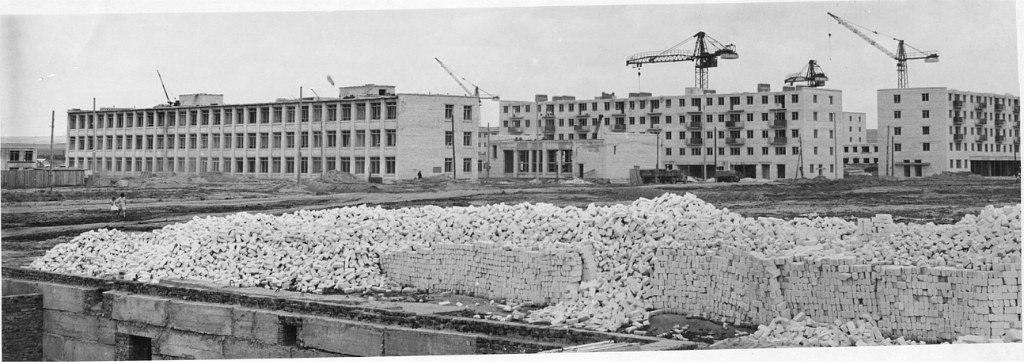 Застройка 1-го микрорайона. 1964 год
