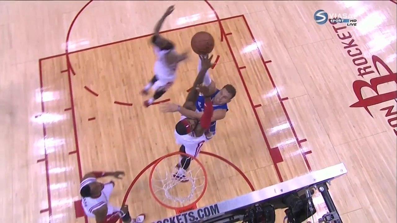 Джош Смит ставит блок Гриффину в плей-офф НБА 2015
