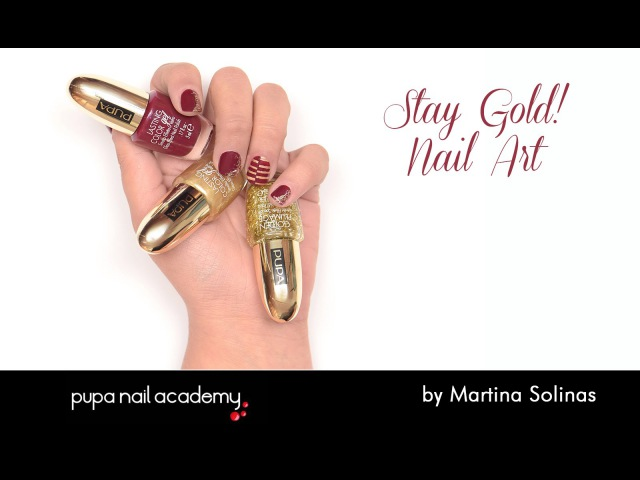Stay Gold! NailLook by Martina Solinas | PUPA Nail Academy