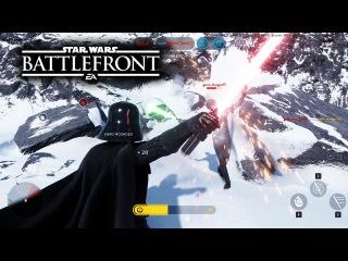 Star Wars Battlefront Beta Gameplay! Darth Vader vs Luke Skywalker & Sullust Map on Drop Zone!
