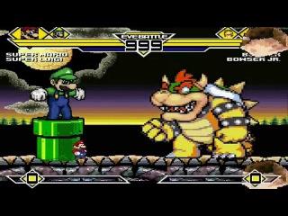Super Mario & Super Luigi vs Bowser & Bowser Jr. MUGEN Battle 1.0!