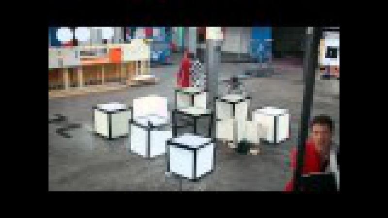 100 оптических иллюзий в одном клипе и одном дубле! OK Go The Writing's On the Wall