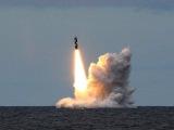 Пуск ракеты Синева в Баренцевом море