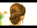 Easy prom hairstyle for long hair Bridal updo