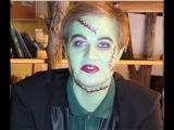 Макияж парню.  Образ на Хэллоуин ФРАНКЕНШТЕЙН.тематической вечеринки.Макияж для Нового Года