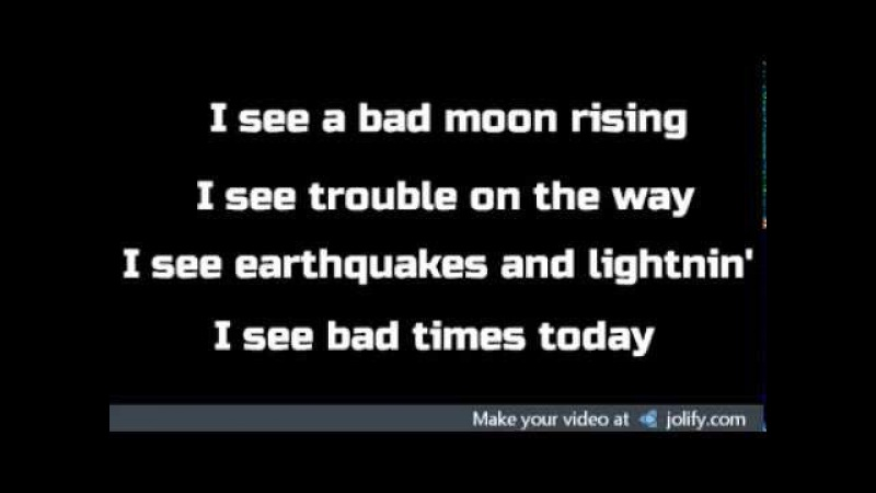 Mourning Ritual - Bad Moon Rising wlyrics