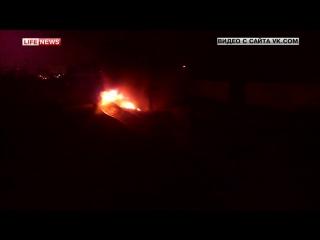 Сгоревшее авто вызвало задержку электричек на Горьковском направлении (23.12.2015)