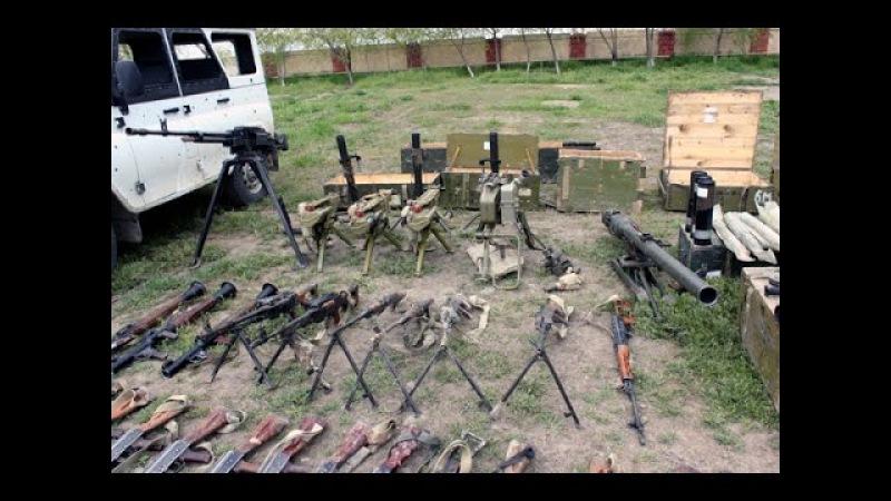 Ermeni Teroristlerin qoyub qaçdığı Silah Sursat - Menbe :Mudafiye Nazirliyi