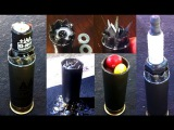 Custom Homemade Shotgun Shells 2 (Razors, Spark Plug, Live .22 ammo, batteries)