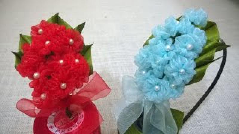 D.I.Y. Organza Hydrangea Flower Headband | MyInDulzens