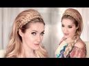 Праздничная/вечерняя/свадебная причёска своими руками в стиле 60х ❤ Ободок из волос (косы)